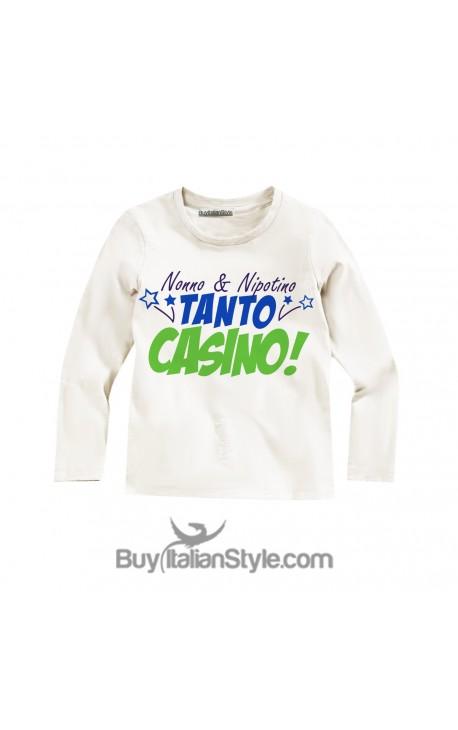 """Maglietta bimbo """"Nonno e nipotino tanto casino"""""""