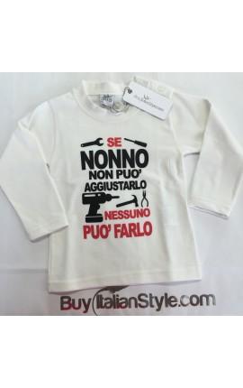 """T-shirt bimbo """"Se nonno non può aggiustarlo nessuno può farlo"""