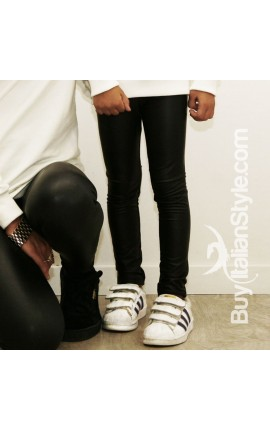 Leggings bimba ecopelle