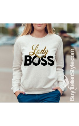 "Women's Sweatshirt ""Lady boss"""