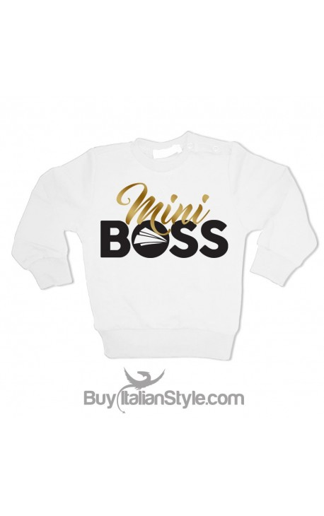"""Felpa maschietto """"Mini Boss"""""""