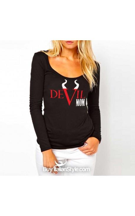 """Maglia donna """"Devil MoM"""""""