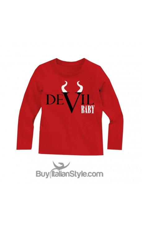 "Maglia bimbo/a halloween ""Devil baby"""