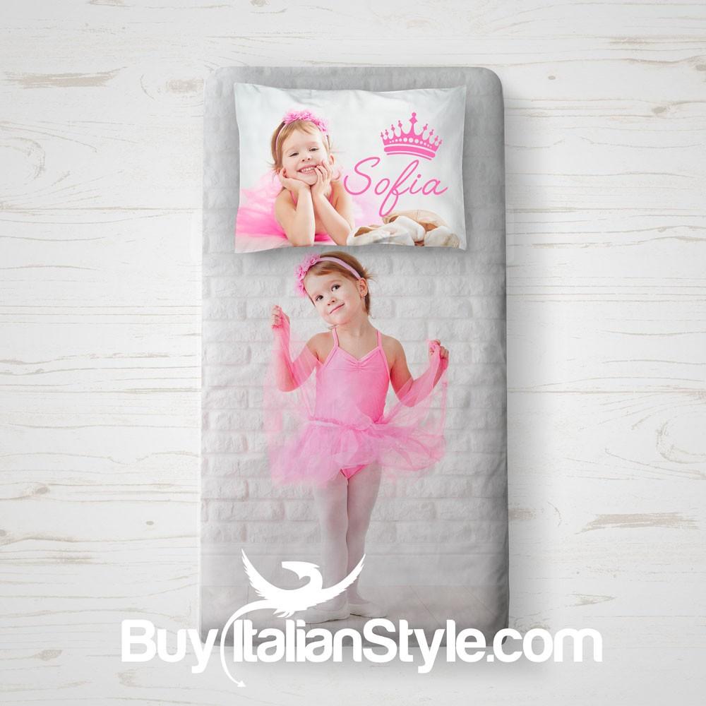 Copri piumone a sacco personalizzabile con foto - Sacco letto bambini ...