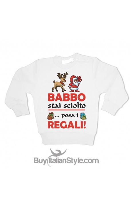 """Felpina Bimbo/a """"Babbo Natale stai sciolto e posa i regali"""""""