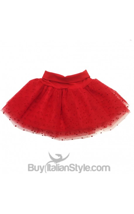 Tulle tutu skirt with hearts