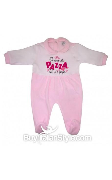 """Tutina neonata in ciniglia """"Innamorata pazza del mio papà"""""""
