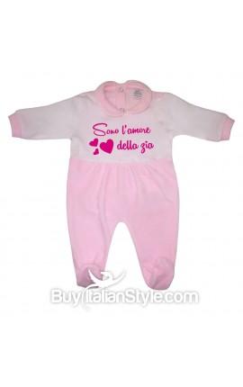 """Tutina neonata in ciniglia """"Sono l'amore della zia"""""""