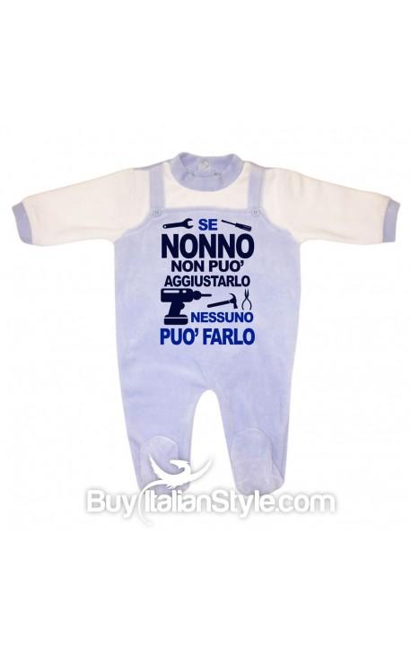 """Tutina neonato in ciniglia """"Se nonno non può aggiustarlo nessuno può farlo"""""""