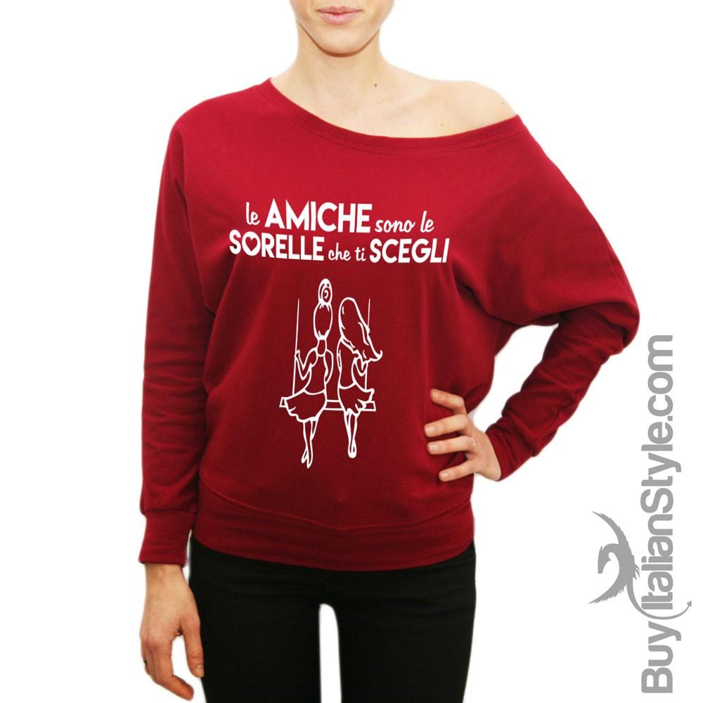 T-shirt donna Le amiche sono le sorelle che scegli regalo per migliore amica