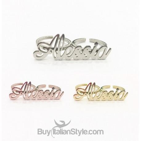 doppio anello con nome