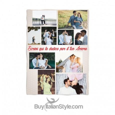 Plaid Personlizzabile con COLLAGE 10 foto e dedica