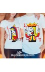 "PACK 2 T-shirt LUI&LEI ""Re e Regina di cuori"""