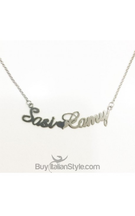 Necklace with 2 names