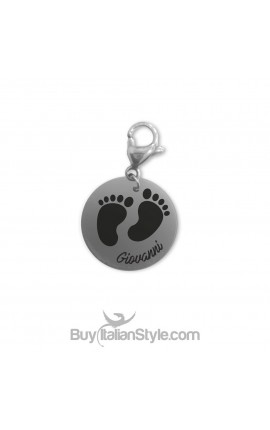 FOOTPRINT Charm PERSONALIZED with name or date