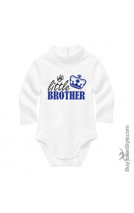 "Knit turtleneck bodysuit ""little brother"""