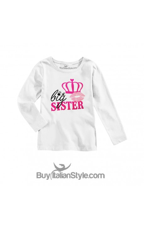 "T-shirt bimba manica lunga ""Big Sister"""