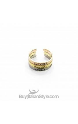 TRIS di anelli 3mm personalizzabili