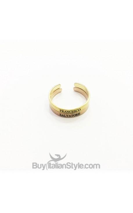 Coppia anelli 3mm personalizzabili