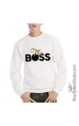 """Felpa Uomo girocollo """"The boss"""""""