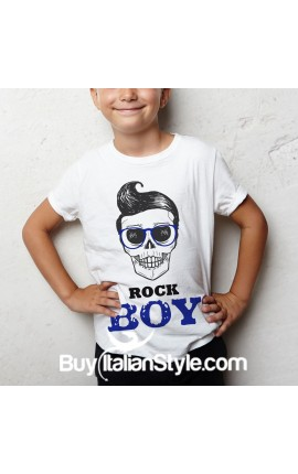 "T-shirt bimbo mezza manica ""ROCK BOY"""
