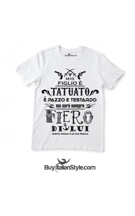 """T-shirt uomo mezza manica """"Figlio tatuato"""""""