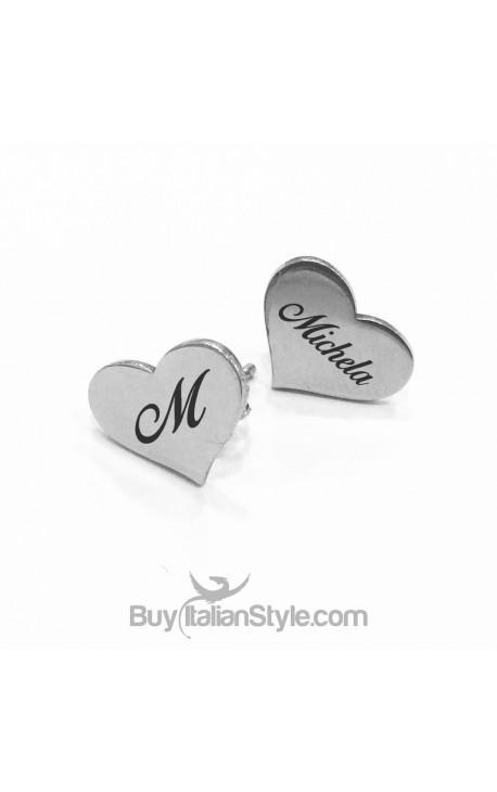 PERSONALIZED Earrings shaped like HEART