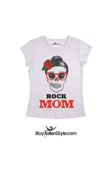 "T-shirt Donna ""ROCK MOM"""