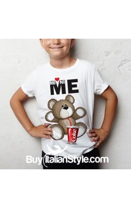 T-shirt bimbo mezza manica orsetto