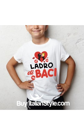 "T-shirt ""Ladro di baci"""