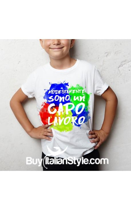 """T-shirt bimbo """"Modestamente sono un capolavoro"""""""