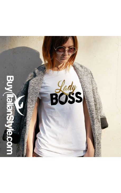 "T-shirt Donna ""Lady Boss"""