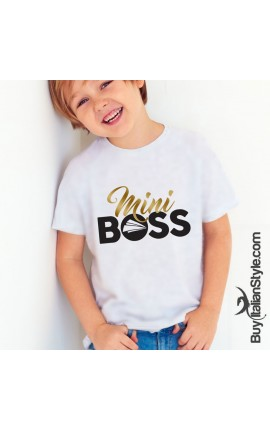 "Boy's T-Sirt ""Mini Boss"""