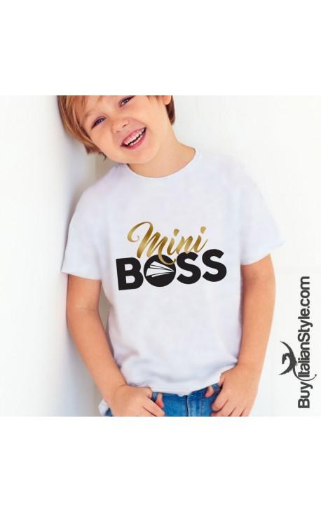 """T-shirt bimbo """"Mini Boss"""""""
