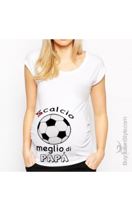 T-shirt premaman scalcio meglio di papà