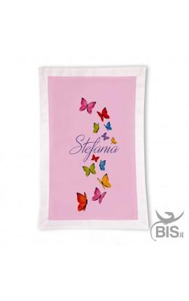 Copertina Personalizzabile con motivo farfalle colorate