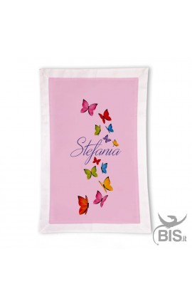 customizable baby blanket with colourful butterfly