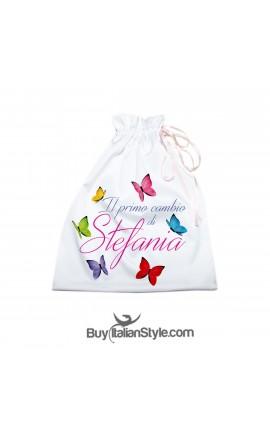 Sacchetto Farfalle Color da personalizzare con nome