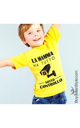 """T-shirt bimbo """"La mamma ha tutto sotto controllo"""""""