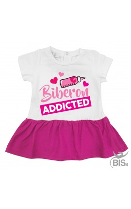 "Newborn dress ""Biberon addicted"""
