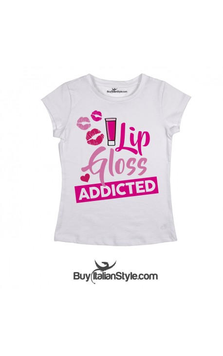 "T-shirt Donna ""Lip Gloss Addicted"""