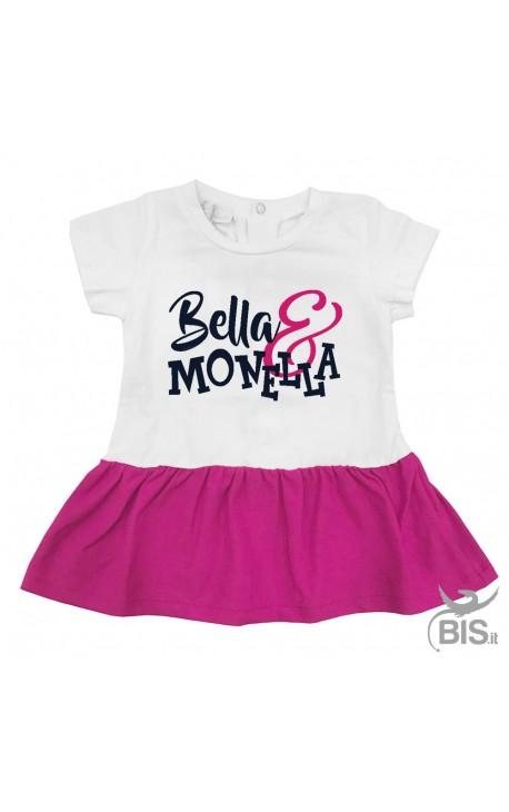 """Abitino neonata """"Bella e monella"""""""