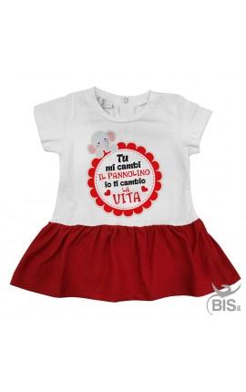 "Newborn dress ""You change my diaper I'll change my life"""