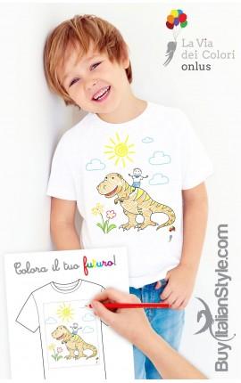 """T-shirt bimbo/a """"Colora il tuo futuro"""""""