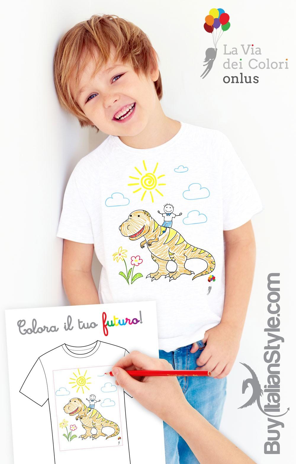 Colora il tuo futuro crea la tua maglietta e sostieni la for Crea la tua casa dei sogni