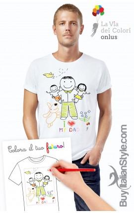 T-shirt uomo colora il tuo futuro
