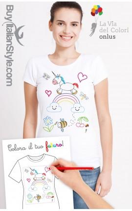 """T-shirt Donna """"Colora il tuo futuro"""""""