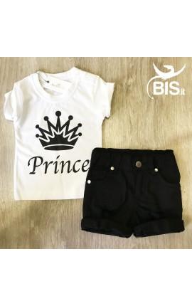 """T-shirt bimbo mezza manica  """"Prince"""""""