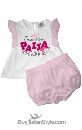 "Baby set ""I'm crazy in love with my dad"""