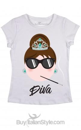 "Woman's T-Shirt Audrey ""DIVA"""
